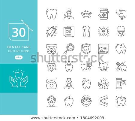 Oral saúde ícone projeto isolado ilustração Foto stock © WaD