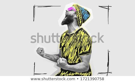 Gritando estúdio camisas cabeça Foto stock © deandrobot