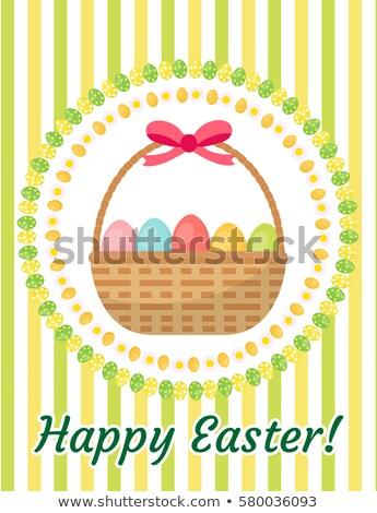 グリーティングカード チラシ ポスター バスケット 卵 ストックフォト © lucia_fox