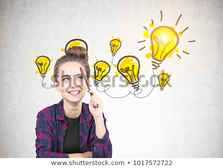 Woman with idea brainstorm and Business graphics drawings Stock photo © wavebreak_media