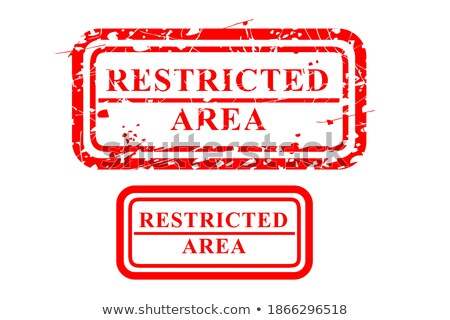 Stockfoto: Restricted Area Rubber Stamp Sign Design