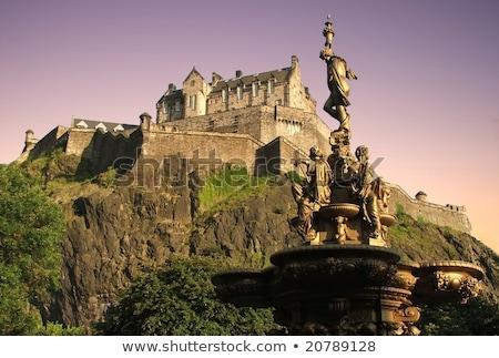 Edinburgh · kastély · Skócia · erőd · fal · postabélyeg - stock fotó © Qingwa