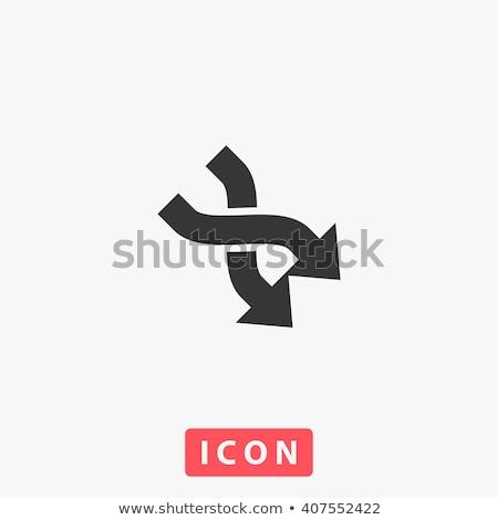 abstract arrows icon 2 stock photo © oakozhan