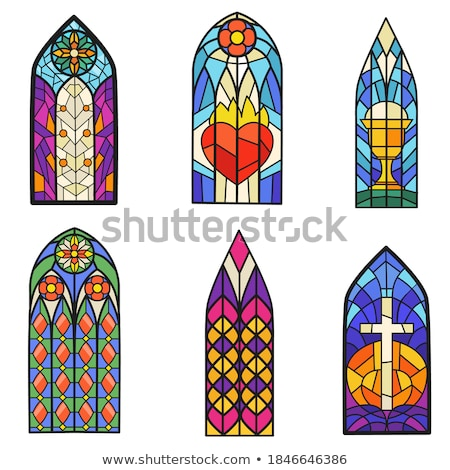 Religious stained glass window collection Stock photo © luissantos84