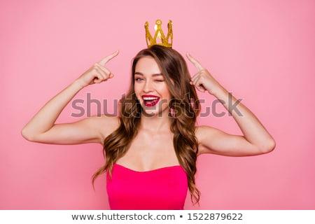 женщину Принцесса корона красивой Сток-фото © svetography