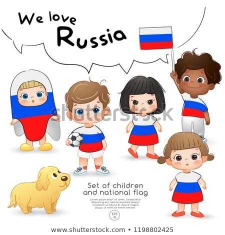 девушки рубашку флаг иллюстрация детей Сток-фото © bluering