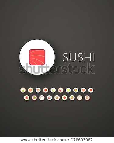 Vecteur style exotique poissons icône Photo stock © curiosity