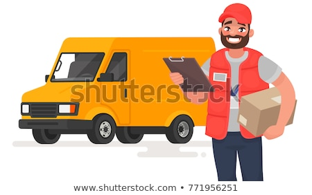 Vector cartoon style illustration of postman. Stock photo © curiosity