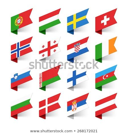 Zászló papír címke szimbólum vidék Stock fotó © ayaxmr