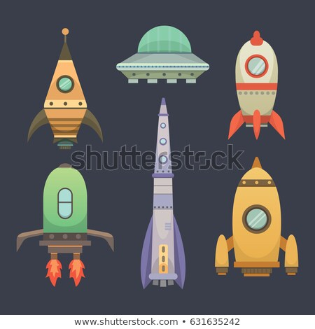 Rakéta hajók kezdet felfelé stílus szett Stock fotó © Andrei_