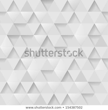 Beyaz 3D üçgen model vektör Stok fotoğraf © pashabo