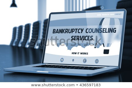 bankruptcy counseling concept on laptop screen 3d stock photo © tashatuvango