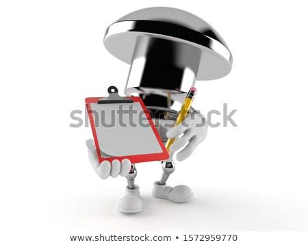 3次元の男 · クリップボード · バルブ · パイプライン · 孤立した · レンダー - ストックフォト © texelart