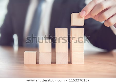 Businessman increase financial productivity Stock photo © alphaspirit