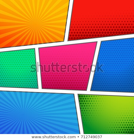 Stock photo: seven page empty comic book page template background