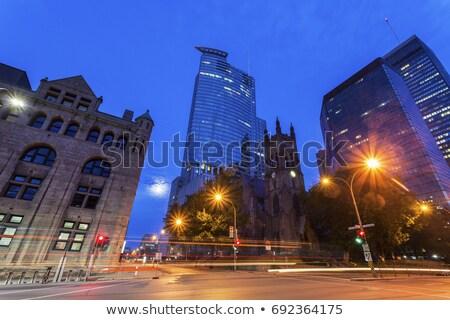 Kerk Montreal hemel reizen stedelijke nacht Stockfoto © benkrut