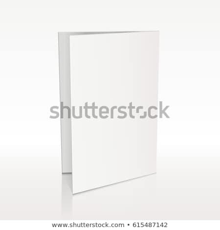 Folderze biały ulotka wektora 3D Zdjęcia stock © pikepicture