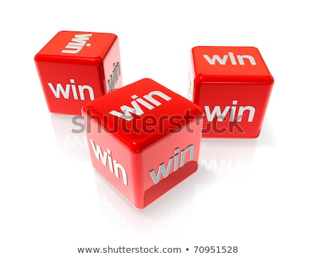 three white win dices Stock photo © daboost