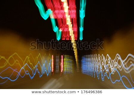 Stock photo: motion blure background with road