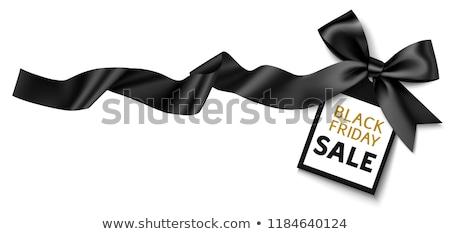Black Friday Sale Gift Bow Ribbon Design Stock photo © Krisdog
