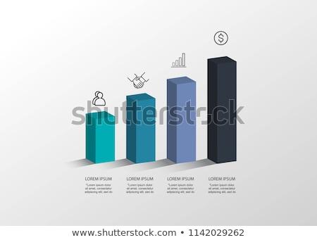 set goals   label on blue arrow 3d stock photo © tashatuvango