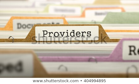 Folder in Catalog Marked as Providers. Stock photo © tashatuvango