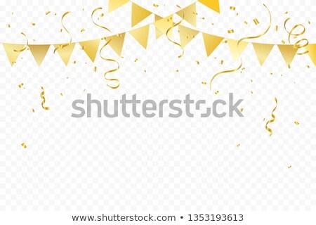 Bandiere confetti vettore oro nastri Foto d'archivio © Andrei_