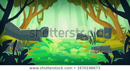 Toxic waste barrels in the forest Stock photo © stevanovicigor