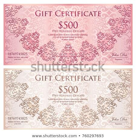 Lüks altın siyah hediye Çeki dantel dekorasyon Stok fotoğraf © liliwhite