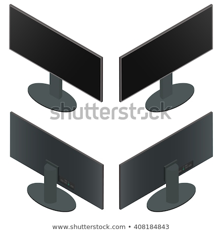 modern slim plasma TV on a black stand isolated on a white backg Stock photo © Traimak