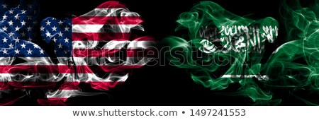 Football in flames with flag of saudi arabia Stock photo © MikhailMishchenko