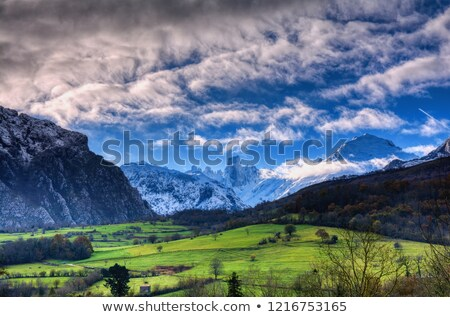 Naranjo de Bulnes (known as Picu Urriellu) in Picos de Europa National Park. Stock photo © asturianu