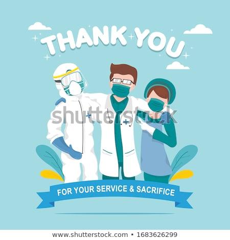 Szczepienia medycznych plakat wektora muzyka Zdjęcia stock © Leo_Edition