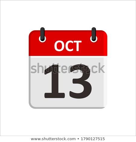 Ikon naptár spirál renderelt kép 3d illusztráció felirat Stock fotó © Oakozhan