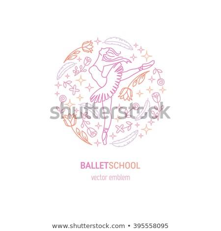 balé · ícone · botão · símbolo · isolado - foto stock © terriana
