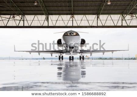Działalności jet stylizowany lotnictwo nowoczesne lotniska Zdjęcia stock © tracer