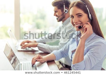maturo · imprenditore · lavoro · call · center · ritratto · business - foto d'archivio © is2