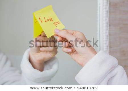 Amore nota specchio riflessione donna parola Foto d'archivio © wavebreak_media