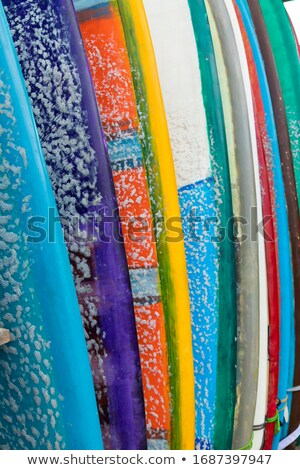 Bali surfers rental of surfboards Stock photo © joyr