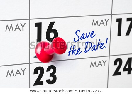 wall calendar with a red pin   may 16 stock photo © zerbor