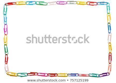 Paperclip metaal keten Stockfoto © IS2