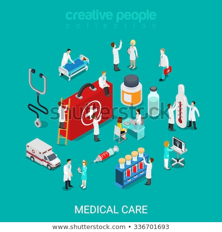 Médicos salud infografía establecer iconos Foto stock © sidmay