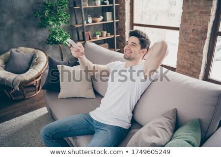 Portrait élégant musculaire homme détente appartement Photo stock © majdansky