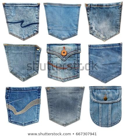 Jeans pocket. Shabby blue denim. Stock photo © ESSL