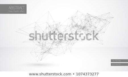 аннотация вектора линия облаке геометрический строительство Сток-фото © Iaroslava