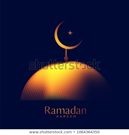 creative glowing mosque top with crescent moon Stock photo © SArts