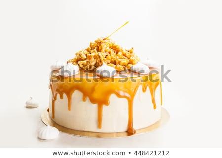 salted caramel popcorn food background Stock photo © zkruger