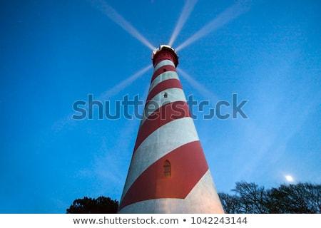 Zachód latarni Niderlandy świetle morza niebieski Zdjęcia stock © benkrut