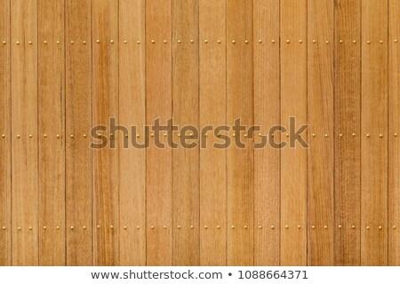 木材 パネル 真鍮 爪 階 ストックフォト © smuay