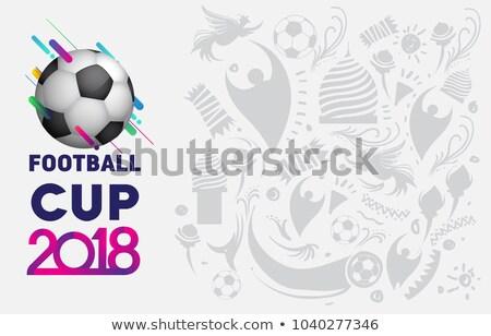 Futball bajnokság csésze futball sportok illusztráció Stock fotó © vectomart